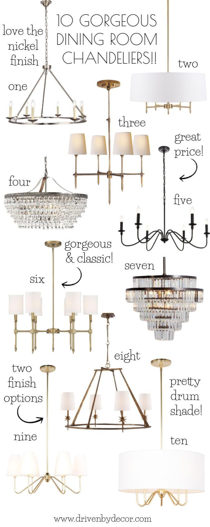 Dining Room Chandeliers My Ten Favorites Driven By Decor The Blog Pinterest And