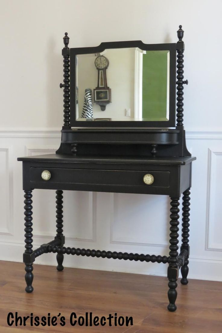 Chrissie 39 S Collection Custom Painted Furniture Vanity In General Finishes Lamp Black