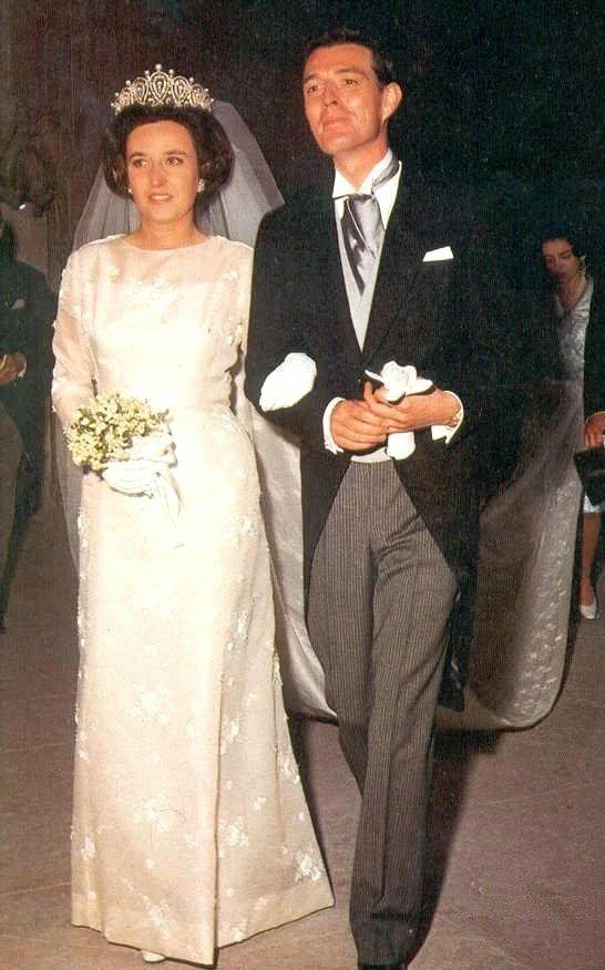 THE WEDDING H.R.H. Infanta Pilar of Spain, Duchess of Badajoz; and Luis Gomez-Acebo y Duque de Estrada, Viscount of la Torre, Wedding (1967)