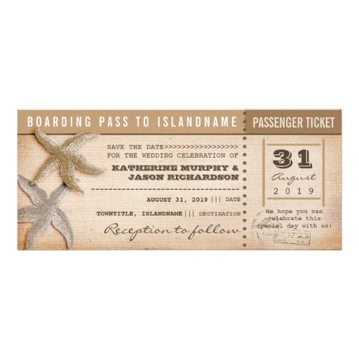 Boarding Pass Save The Date Vintage Tickets