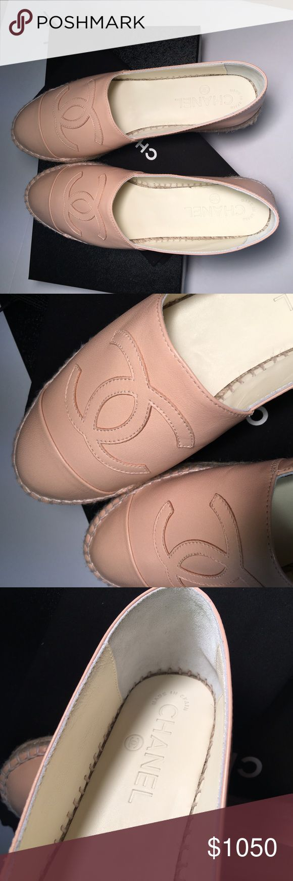 BN 2017 Chanel Espadrilles Nude Beige 2017 Brand New Chanel Nude Espadrilles in Lambskin Leather.  Size37/7, double sole.  Just released and sold out immediately in stores.   Comes with Chanel box, dust bags, care booklet and receipt upon request.  Ships ASAP!  No trade please.  Thank you CHANEL Shoes Espadrilles