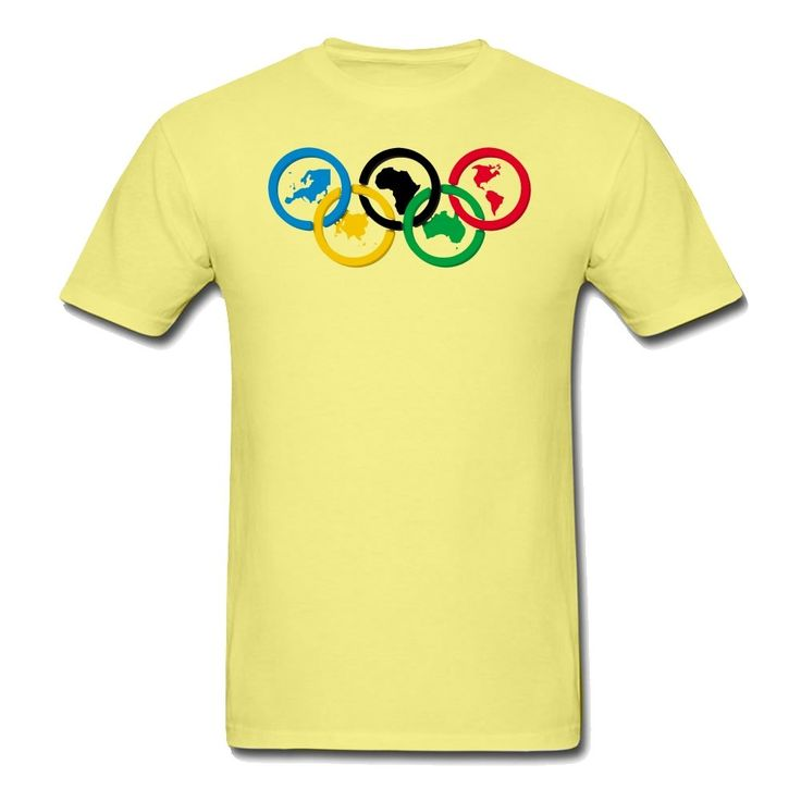 MOYI Men's World's Famous Olympic Games Rings Shirt Yellow Xxxx-large. 100% Cotton. Simple And Easy, High Quality. Well Image And Exllent Printed Technology. A Series2016 RIo Olympic Games Logo Products. Great Shirt And High Print Quality.