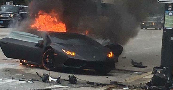 Lamborghini Huracan Driver Saved Seconds Before Wrecked Supercar Bursts Into Flames #Accidents #Lamborghini