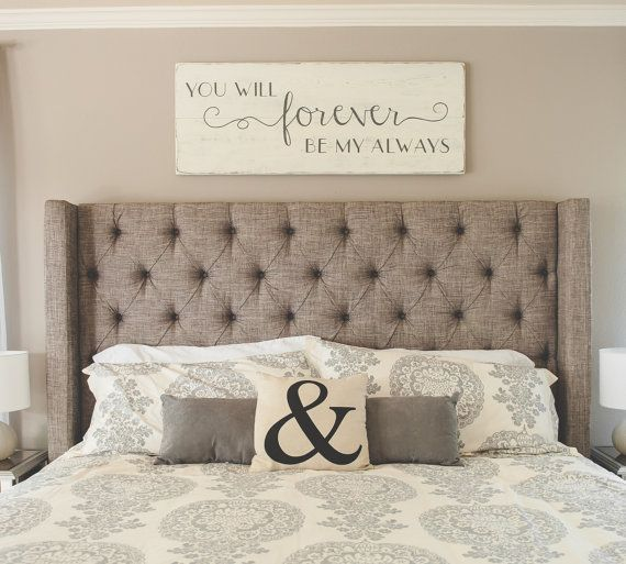 Bedroom wall decor You will forever be my always by CherieKaySigns