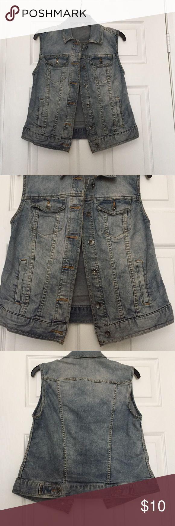 Sleeves Denim Jacket Light wash sleeveless denim jacket Merona Jackets & Coats Vests