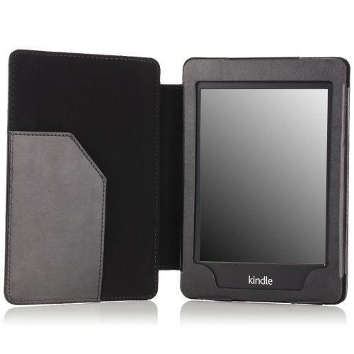 MoKo Case for Kindle Paperwhite Premium Cover with Auto Wake / Sleep for Amazon All-New Kindle Paperwhite (Fits All 2012 2013 2015 and 2016 Versions) BLACK