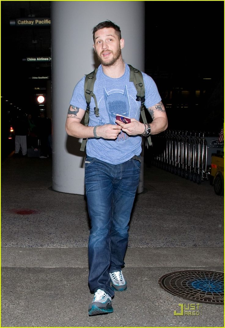 Tom Hardy at LAX Airport -Jan 2011