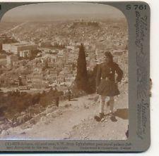 Greek Officer from Lykabettos Athens Greece to Sea Underwood c.1900