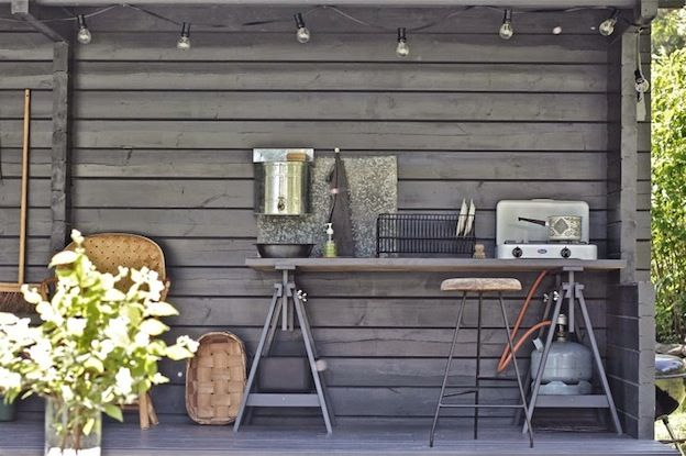 An idyllic Finnish cottage with an outdoor summer kitchen.Time of the Aquarius.