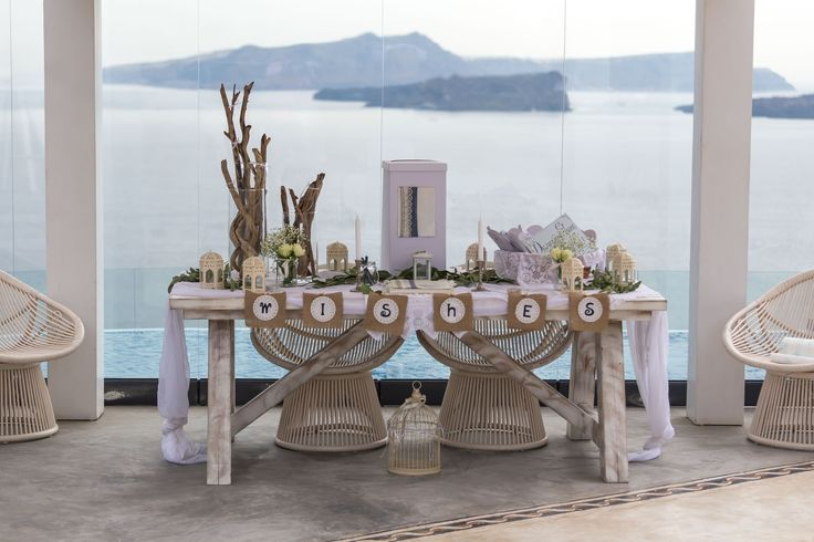 Wedding wish table by A la carte Santorini Weddings.