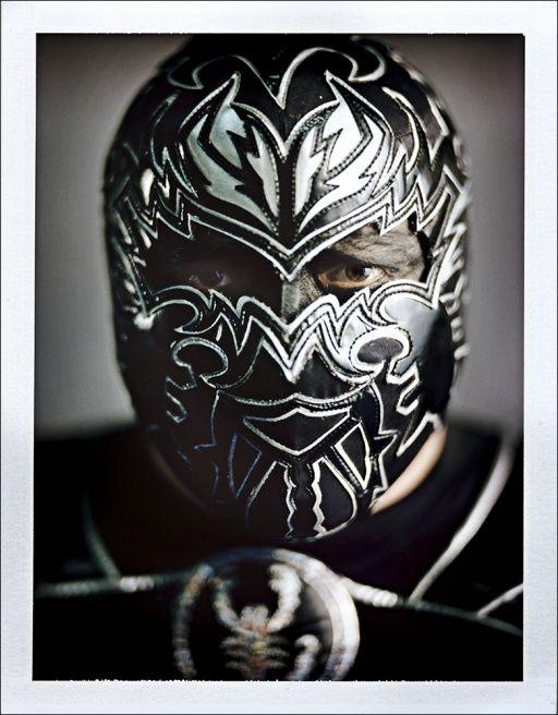 Art black luchador mask - lucha libre - wrestlling