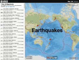 Graphic: New Earthquake Map/List/Search Interface