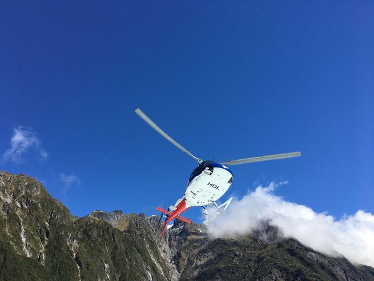 When in New Zealand one must have some adventure! So off with a helicopter to visit the glacier and hike for a few hours! #travel #training