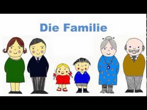 German Family Vocabulary Flashcards - Die Familie - Signalkarten und Bildkarten in Deutsch - YouTube