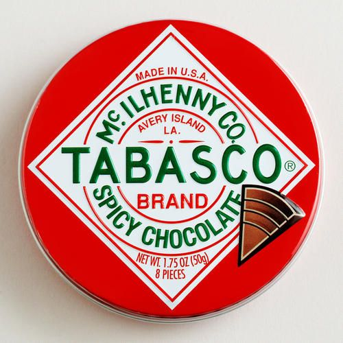One of my favorite discoveries at WorldMarket.com: The Chocolate Traveler Tabasco® Chocolate Tin, Set of 6