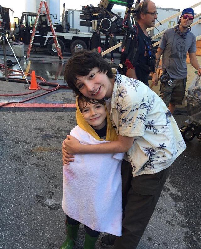 Georgie and Richie from IT!!  Georgie is: Jackson Robert Scott and Richie is: Finn Wolfhard