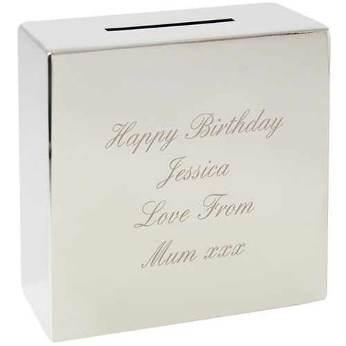 Personalised Silver Money Box  from Personalised Gifts Shop - ONLY £19.99