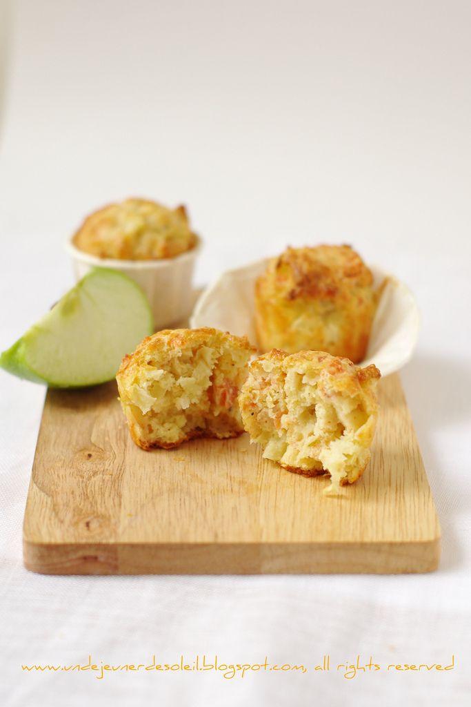 Muffins al salmone affumicato, mela e lime
