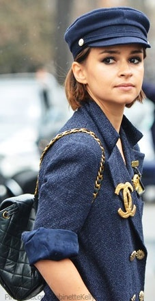 Chanel Street Style | Blue and Gold