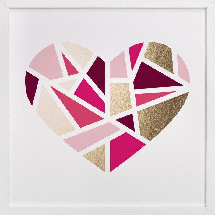 Mosaic Heart by Jennifer Postorino at minted.com