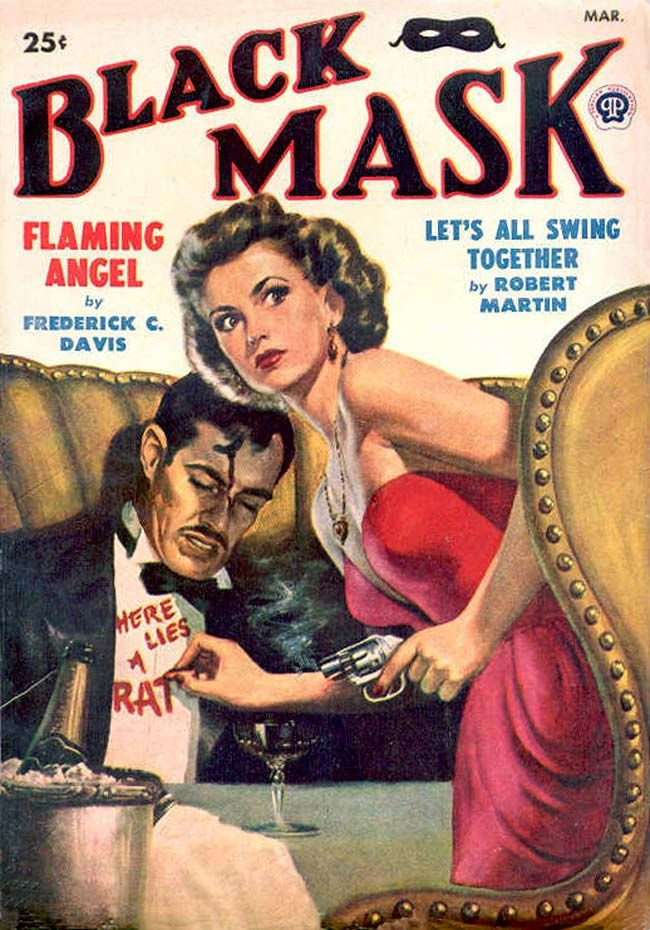 Black Mask 1949-03  All Black Mask covers, the Black Mask logo, and the mask device are copyright © Keith Alan Deutsch.