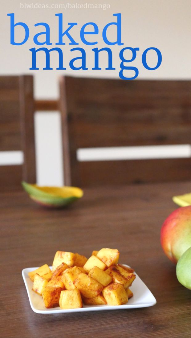 Easy Baked Mango - Baby Led Weaning Ideas: This is a quick recipe that's a perfect snack for you and your baby to share.