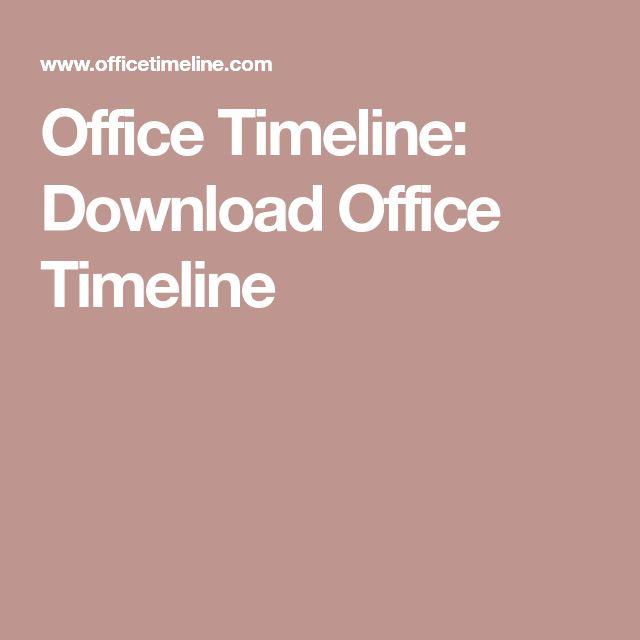 Office Timeline: Download Office Timeline