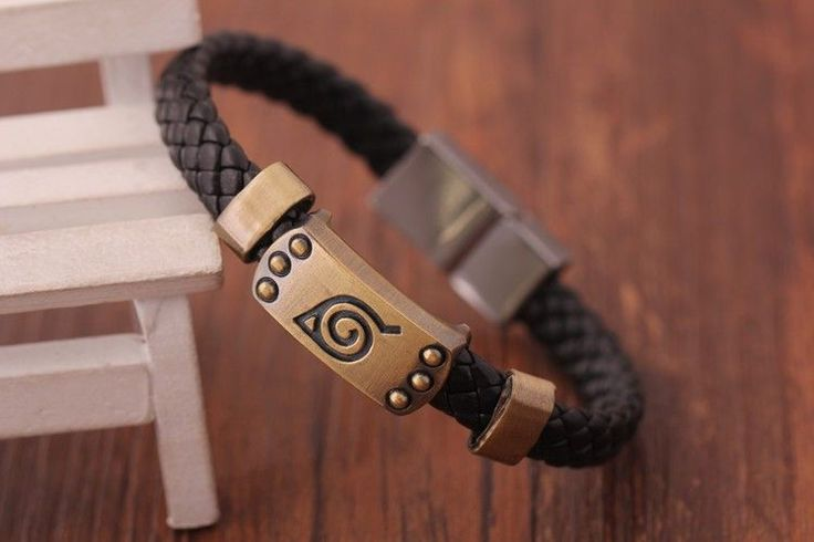 Naruto Anime Konoha Bangle Bracelet