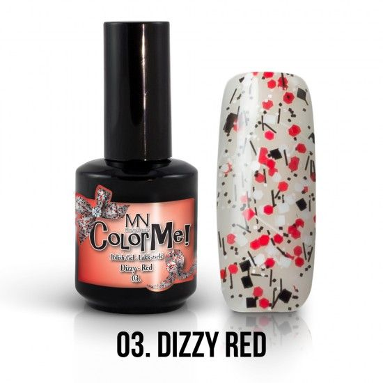 ColorMe! Dizzy no.03. - Dizzy Red 12ml gel polish lakkzselé gél lakk nail art mystic nails