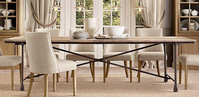 Flatiron dining restoration hardware furniture pinterest for Dining room tables at restoration hardware