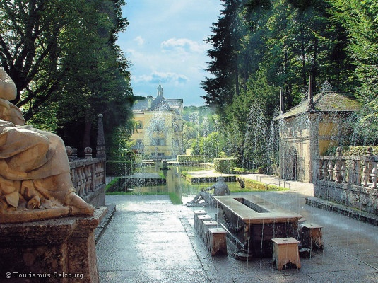 Hellbrunn Palace - Wasserspiel - trick fountains everywhere. I loved this place. Outside of Salzburg, Austria.