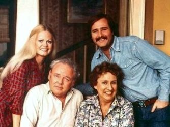 """All in the Family  Archie Bunker, was a working-class family man who held bigoted, conservative views of the world. His viewpoints clash with nearly everyone he comes into contact with especially his liberal son-in-law Mike Stivic (or, as Archie delights in calling him, """"Meathead"""")."""