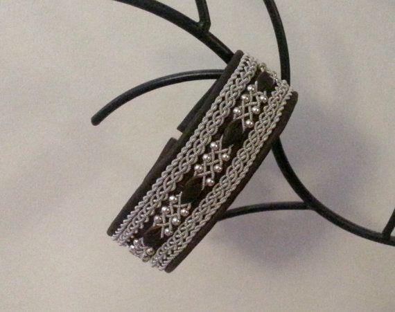 Lapland Sami Bracelet Reindeer leather Custom made by liten82, $80.00