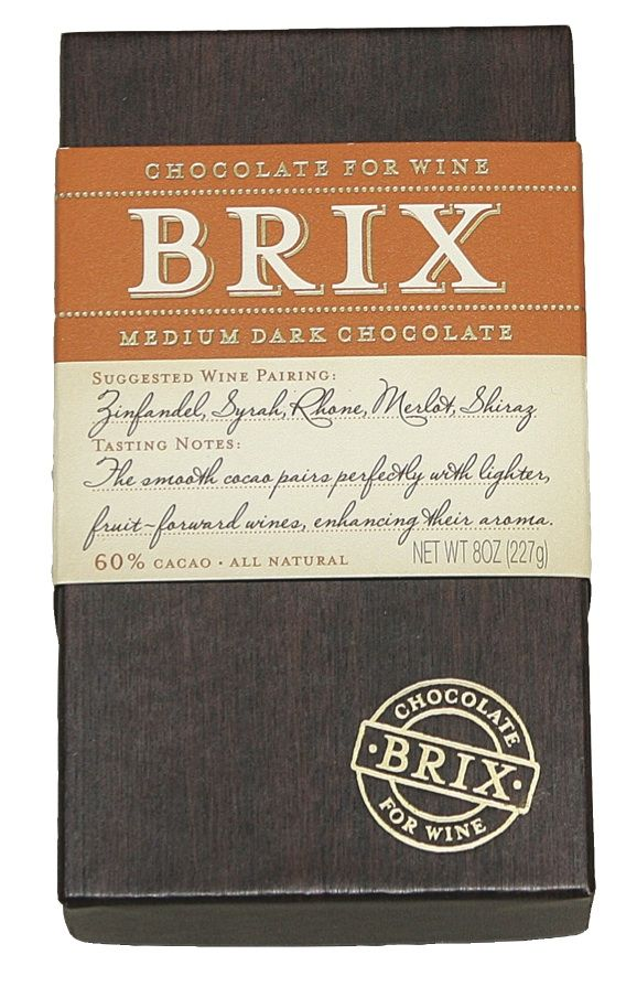 Brix Bar – Medium Dark 8 oz  SUGGESTED WINE PARINGS: Merlot, Shiraz, Zinfandel…
