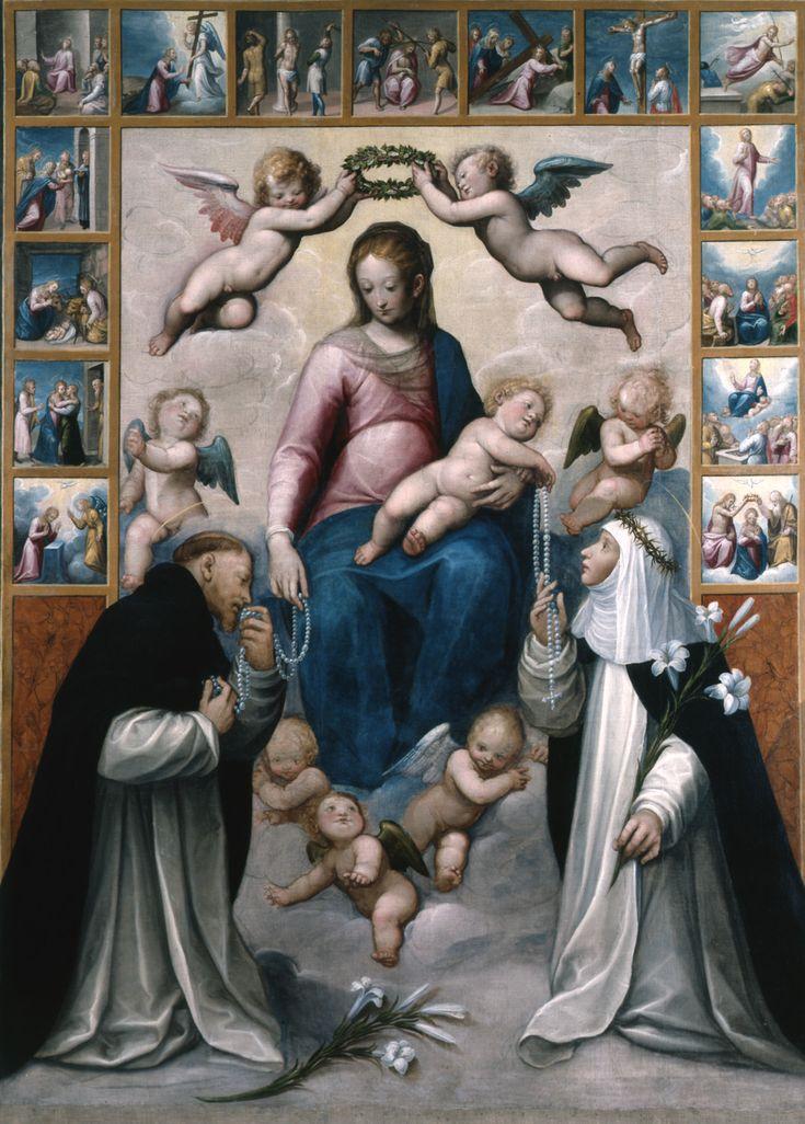 Guglielmo Caccia (Il Moncalvo), Madonna del Rosario, c. 1608