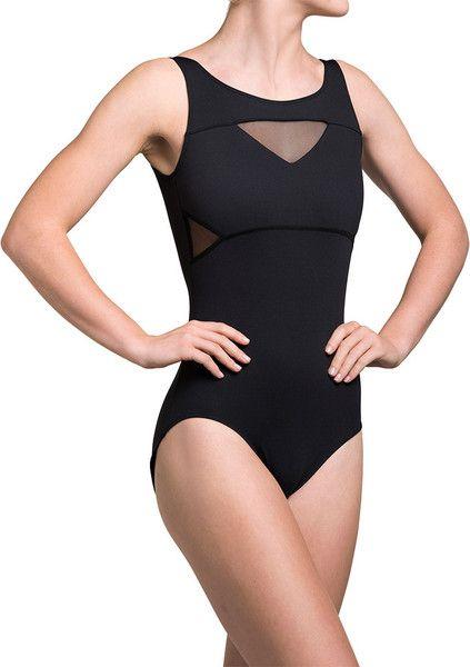 Mara Mesh Insert Tank Leotard - Ainsliewear 163ME Womens - Dancewear - Bodysuits & Leotards - Ainsliewear - Dancewear Centre Canada Online - 1