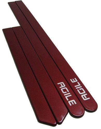 Jogo Friso Chevrolet Agile Vermelho Chilli Personalizado - Só Frisos Ltda