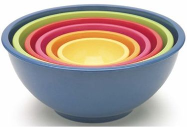 I have these mixing bowls and they are fantastic because you have every size...