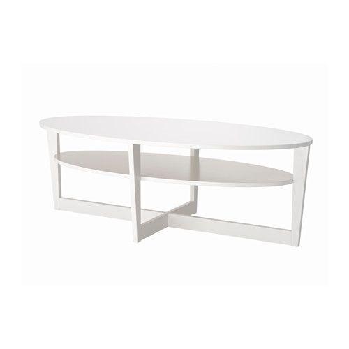 Vejmon soffbord vit hyllor och snacks for Ikea snack table