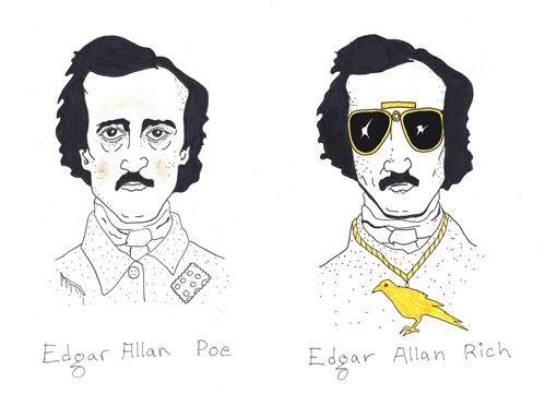Edgar Allen Poe: Laughing, Allen Rich, Edgar Allan Poe, Literary Humor, Funny, Edgar Allen Poe, Allan Rich, Things, Funnies Stuff