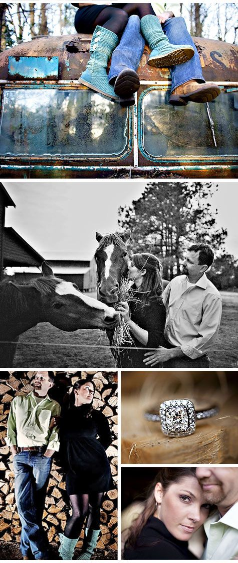 Engagement Photos: Harley and Duane's Rustic Barn Engagement PhotosTheKnot.com -