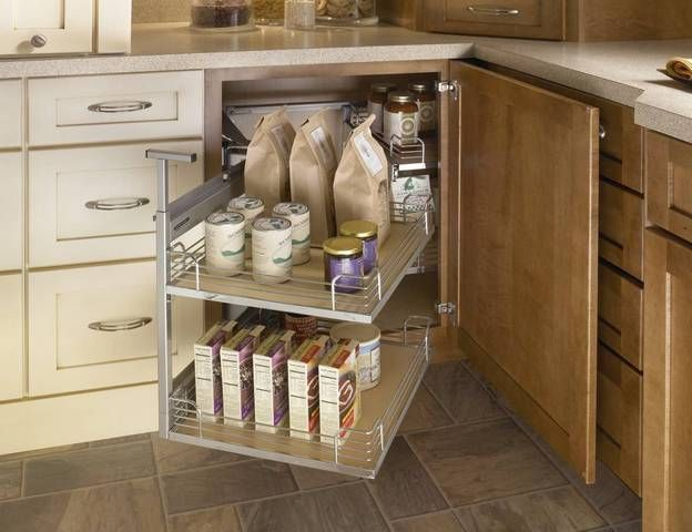 13 Best Images About Blind Corner Cabinet Organization On