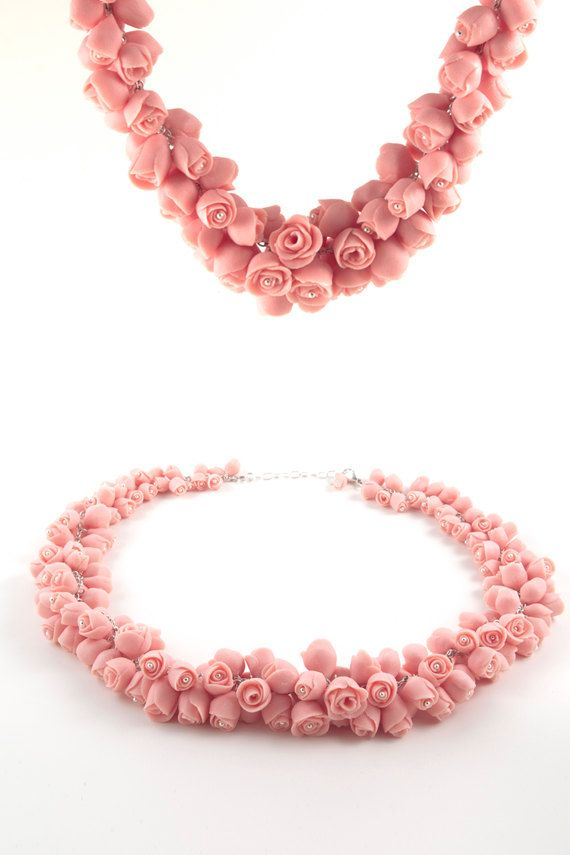 Hey, I found this really awesome Etsy listing at https://www.etsy.com/ru/listing/217885649/porcelain-necklace-dusty-pink-roses