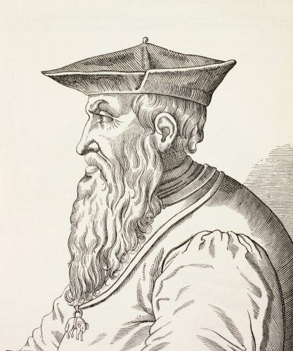 Andrea Doria, 1466-1560. Italian Admiral. From Military And Religious Life In The Middle Ages By Paul Lacroix Published London Circa 1880. Poster Print (26 x 32)