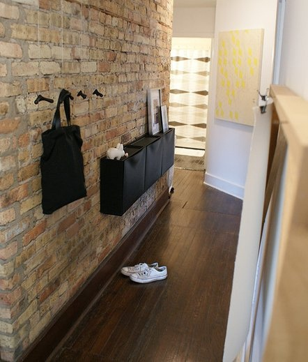Trones shoe cabinet for the front hall. | These simple and inexpensive storage units add so much functionality to the space!