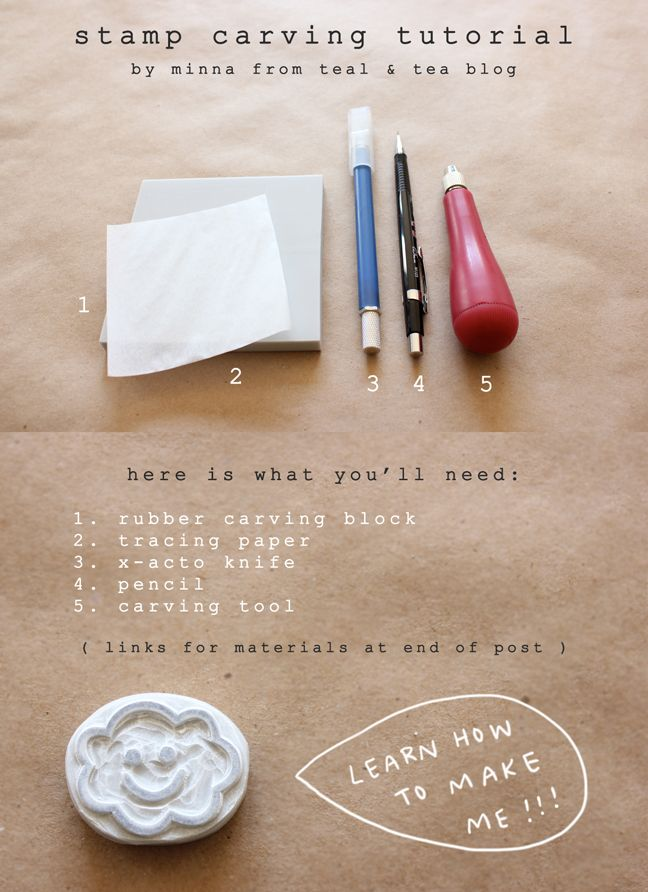 teal + tea blog: diy hand carved stamp tutorial! http://tealandtea.blogspot.com/2012/02/diy-hand-carved-stamp-tutorial.html