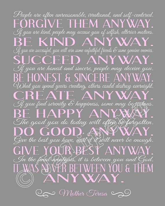 Elegant Mother Teresa Quotes Love Them Anyway Inspiration De 57 Bästa Quotes And  Thoughts For Schoolbilderna På