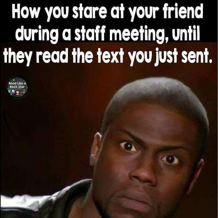 Staff mtg texting