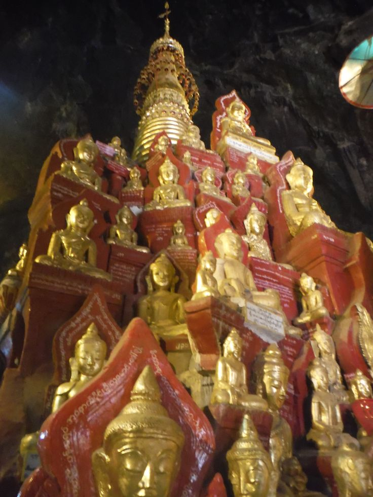 Limestone caves filled with thousands of Budda images... Pindaya, Myanmar