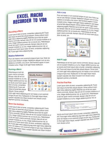 MrExcel Excel Macro Recorder to VBA Tip Card (digital download)
